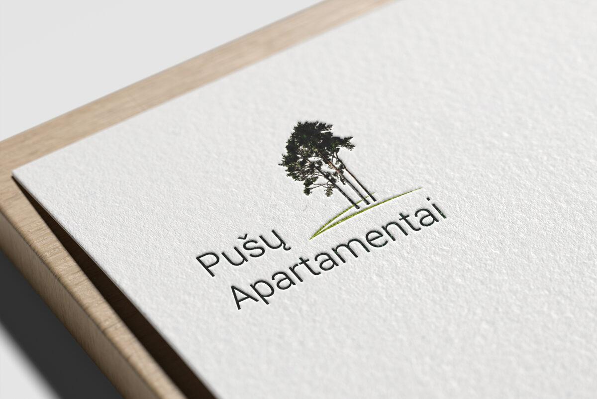 """Logotipo """"Pušų apartamentai"""" sukūrimas"""